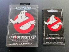 Ghostbusters 🔥 Sega Genesis Box + Manual Instruction Booklet no game