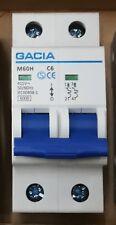 GACIA 240v MCB, Miniature Circuit Breaker, DOUBLE POLE choose amp rating  NSBxxD