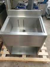 Slimline Cocktail Bar Station, Stainless, Fully Insulated Freestanding Ice Well