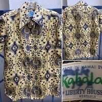 Vintage Kahala For Liberty House Honolulu Hawaiian Shirt Paisley S
