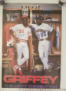 KEN GRIFFEY JR and KEN GRIFFEY SIGNED POSTER  24 x 36