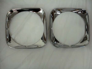 NEW 1971 Chevy Chevelle Head Light Bezel Lamp Door Pair Headlight Chevrolet