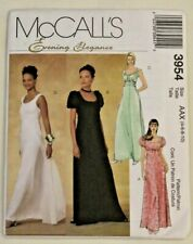 McCall's 3954 Misses Formal Bridal Dress Sewing Pattern in 4 styles 12-14-16-18