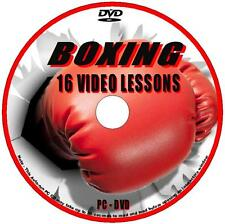 BOXING COACHING LESSONS WATCH 4+ Hrs AVI TRAINING VIDEO TUTORIAL ON PC DVD