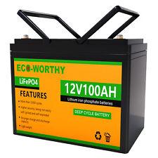 12V 100Ah Lithium Batterie LiFePO4 Akku BMS für Wohnmobil Solarbatterie Boot RV