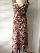 Platinum linen leaf print dress 18