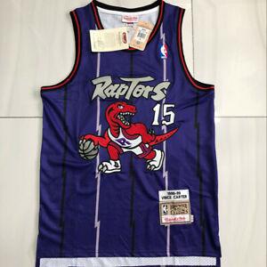 15# Vince Carter Toronto Raptors Hardwood Classics Men's Swingman Jersey Purple