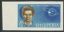 1963 ALBANIA SPAZIO TERESHKOVA 20 L NON DENTELLATO MNH ** - VA45-4