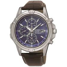Seiko Solar Powered Chronograph Alarm Mens Watch SSC141P2