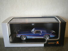 STUTZ BLACKHAWK COUPE 1971 / BLUE / NEW 1/43° BOITE PLEXIGLASS