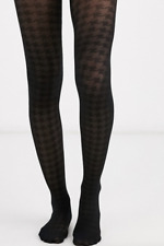 Black Houndstooth Stockings Tights