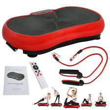Crazy Fit Full Body Vibration Platform Massage Machine Fitness W/Bluetooth Red