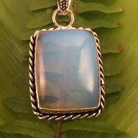 vintage style rainbow glowing opalite pendant