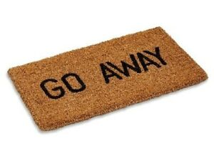 """Go Away Woven Back  Long-Lasting and Sharp Designed Coco Mat 1"""" Thick 18"""" X 30"""""""