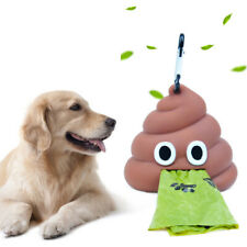 Dog Poop Bag Dispenser Pet Waste Pouch Holder Portable Garbage Bags Carrier