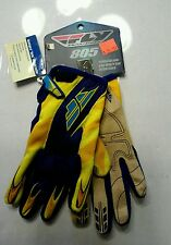 FLY Racing 805 Mototcross Gloves  Youth size 6 / Yellow Navy