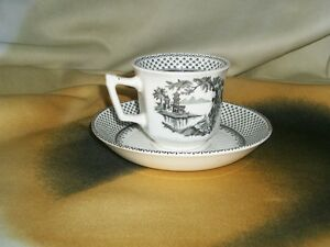 Adams Wedgwood English Ironstone Demitasse Cup and Saucer