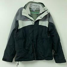 Columbia Cross Terra Interchange 3 in 1 Winter Ski Jacket Men's Sz M Gray Black