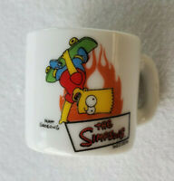 "Miniature 1.25"" Simpsons Coffee Mug Bart Simpson Skateboard 2002 Matt Groening"