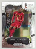 2018 Panini Prizm World Cup Romelu Lukaku Scorers Club Card