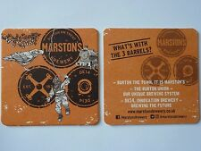 Marston's Brewery What's With The 3 Barrels? Beermat Coaster 3