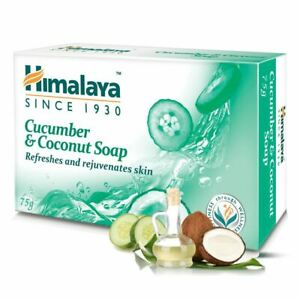 1 PC x 75 GM Himalaya Cucumber & Coconut Soap for Refreshes and rejuvenates skin