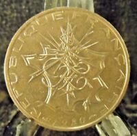 CIRCULATED 1980 10 FRANCS FRENCH COIN(101618)1.....FREE DOMESTIC SHIPPING!!
