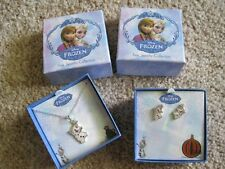 Frozen Olaf necklace earrings fine jewelry collection silver plated NEW lot