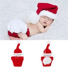 Recién nacido Bebé Navidad Santa Tejer Disfraz Foto Fotografíar