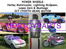One New 12 Volt Power Wheels Motor Electric 21t HARLEY MOTORCYCLE AND MORE
