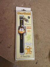 Garfield LCD Quartz Flip-It Watch In Box Unused