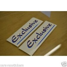 HOBBY 'Exclusive' - (LARGE) - Caravan Name Stickers Decals Graphics - PAIR