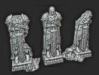 Tabletop Statuen Set 3 Statuen Miniatur | Gelände Dungeons & Dragons / Warhammer