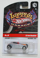 Hot Wheels LARRY'S GARAGE '33 FORD ROADSTER GRAY REAL RIDERS 1:64