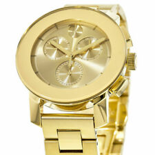 Movado Unisex 3600358 Swiss Chronograph BOLD Gold-Tone Ion-Plated Bracelet Watch