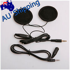 AU Motorbike In-Helmet 2 Speakers Headphone Headset Volume Control For MP3 GPS