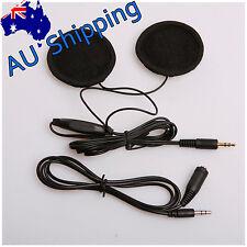 AU Motorbike In-Helmet Headphone 2 Speakers Headset Volume Control For MP3 GPS