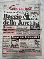 CORRIERE DELLO SPORT 18 MAGGIO 1990 ANNUNCIO ROBERTO BAGGIO ALLA JUVENTUS 05