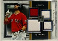 JD MARTINEZ 2020 TOPPS MUSEUM QUAD RELIC GAME USED JERSEY #d/99 BOSTON RED SOX