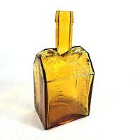 Vintage Wheaton Amber Glass E C Booz's Old Cabin Whiskey Bottle