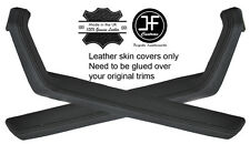 BLACK STITCH 2X DOOR HANDLE ARMREST TRIM LEATHER COVERS FITS PORSCHE 924 944