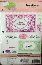 Justrite Stamper • Fancy Frames • Cling Stamp • 12 Stamps • New