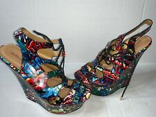 ab13e3049a Preowned- Dollhouse Platform Wedge Sandals - Women s (Size 8)