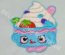 1 EMBROIDERY APPLIQUE GIRLS SHOPKINS IRON ON SEW ON PATCH