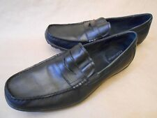 3faec4ea3d9 Florsheim Slip On Loafers Driving Moccasins Black Leather Shoes Size 11 D  13159