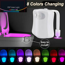 LED RGB Toilet Bowl Night Light Motion Sensor Flexible Bathroom Seat Potty Lamp
