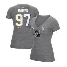 Connor McDavid CCM 2017 NHL All Star Grey N&N Jersey  V-Neck T-Shirt Women's