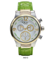 Green Women's Casual Watch Milano MC44013 Faux Leather Band 1 ATM Water Proof