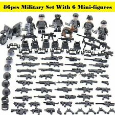 160pcs CUSTOM GUNS LOT WW2 MILITARY SWAT POLICE WEAPONS For lego MINIFIGURES