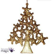 Gisela Graham ANTIGUO OLD dorado acrílico Estrella árbol de Navidad